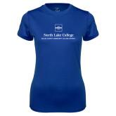 Ladies Syntrel Performance Royal Tee-Primary Mark
