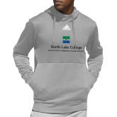 Adidas Grey Team Issue Hoodie-Primary Mark