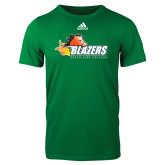 Adidas Kelly Green Logo T Shirt-Athletic Mark