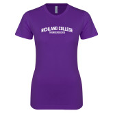 Next Level Ladies SoftStyle Junior Fitted Purple Tee-Arched