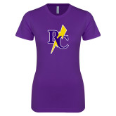 Next Level Ladies SoftStyle Junior Fitted Purple Tee-RC Lightning