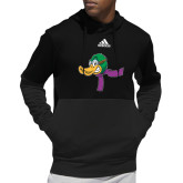 Adidas Black Team Issue Hoodie-Duck Head with Scarf