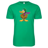 Next Level SoftStyle Kelly Green T Shirt-Duck with Scarf