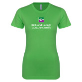 Next Level Ladies SoftStyle Junior Fitted Kelly Green Tee-Garland Campus
