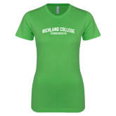 Next Level Ladies SoftStyle Junior Fitted Kelly Green Tee-Arched