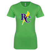 Next Level Ladies SoftStyle Junior Fitted Kelly Green Tee-RC Lightning