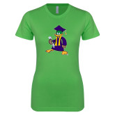 Next Level Ladies SoftStyle Junior Fitted Kelly Green Tee-TD Graduating