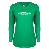 Ladies Syntrel Performance Kelly Green Longsleeve Shirt-Arched