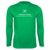 Performance Kelly Green Longsleeve Shirt-Primary Mark
