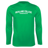 Performance Kelly Green Longsleeve Shirt-Arched
