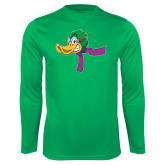 Performance Kelly Green Longsleeve Shirt-Duck Head with Scarf