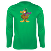 Performance Kelly Green Longsleeve Shirt-Duck with Scarf
