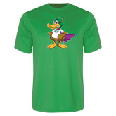 Performance Kelly Green Tee-Super Duck