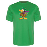 Performance Kelly Green Tee-Duck with Scarf