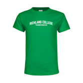 Youth Kelly Green T Shirt-Arched
