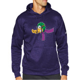 Adidas Purple Team Issue Hoodie-Duck Head with Scarf