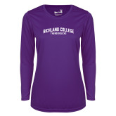 Ladies Syntrel Performance Purple Longsleeve Shirt-Arched