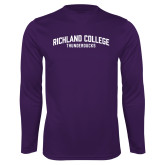 Performance Purple Longsleeve Shirt-Arched