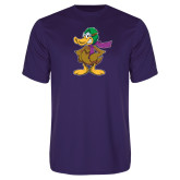 Performance Purple Tee-Duck with Scarf