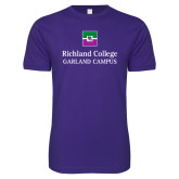 Next Level SoftStyle Purple T Shirt-Garland Campus