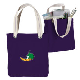 Allie Purple Canvas Tote-Thunderduck Side