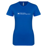 Next Level Ladies SoftStyle Junior Fitted Royal Tee-Primary Mark - Horizontal