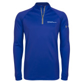 Under Armour Royal Tech 1/4 Zip Performance Shirt-Primary Mark - Horizontal
