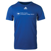 Dallas County Comm Adidas Royal Logo T Shirt-Primary Mark - Horizontal