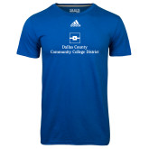 Dallas County Comm Adidas Climalite Royal Ultimate Performance Tee-Primary Mark