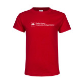 Youth Red T Shirt-Primary Mark - Horizontal