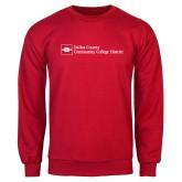 Red Fleece Crew-Primary Mark - Horizontal