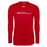 Under Armour Red Long Sleeve Tech Tee-Primary Mark - Horizontal