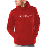 Under Armour Red Armour Fleece Hoodie-Primary Mark - Horizontal
