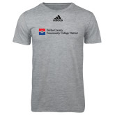 Dallas County Comm Adidas Sport Grey Logo T Shirt-Primary Mark - Horizontal