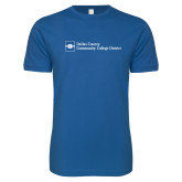 Next Level SoftStyle Royal T Shirt-Primary Mark - Horizontal
