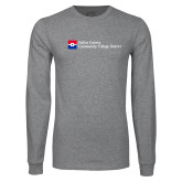 Grey Long Sleeve T Shirt-Primary Mark - Horizontal