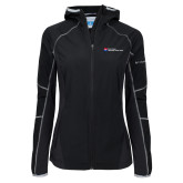 Columbia Ladies Sweet As Black Hooded Jacket-Primary Mark - Horizontal
