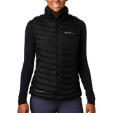 Columbia Lake 22 Ladies Black Vest-Primary Mark - Horizontal