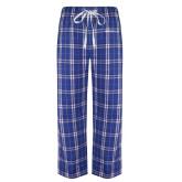 Royal/White Flannel Pajama Pant-Primary Mark - Horizontal