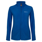 Ladies Fleece Full Zip Royal Jacket-Primary Mark - Horizontal