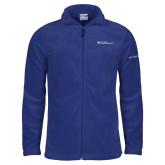 Columbia Full Zip Royal Fleece Jacket-Primary Mark - Horizontal