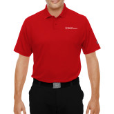 Dallas County Comm Under Armour Red Performance Polo-Primary Mark - Horizontal