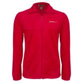 Fleece Full Zip Red Jacket-Primary Mark - Horizontal