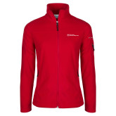 Columbia Ladies Full Zip Red Fleece Jacket-Primary Mark - Horizontal