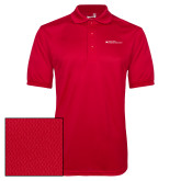 Red Dry Mesh Polo-Primary Mark - Horizontal