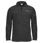 Columbia Full Zip Charcoal Fleece Jacket-Primary Mark - Horizontal