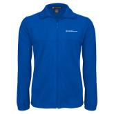 Fleece Full Zip Royal Jacket-Primary Mark - Horizontal