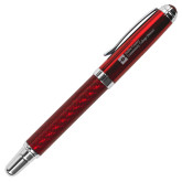 Carbon Fiber Red Rollerball Pen-Primary Mark - Horizontal Engraved