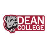 Medium Decal-Dean College w/ Bulldog Head, 8 inches wide