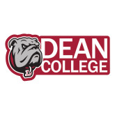 Large Decal-Dean College w/ Bulldog Head, 12 inches wide